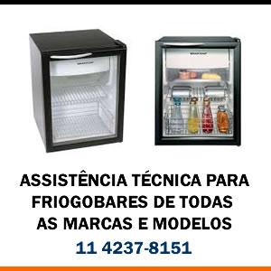 Assistência técnica Frigobar de todas as marcas e modelos