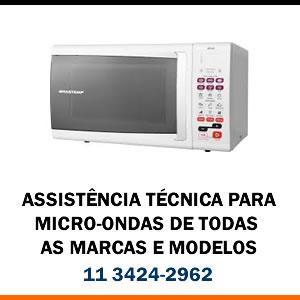 Assistência técnica Micro-ondas de todas as marcas e modelos