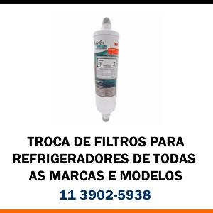 Troca de Filtro para Refrigeradores de todas as marcas e modelos